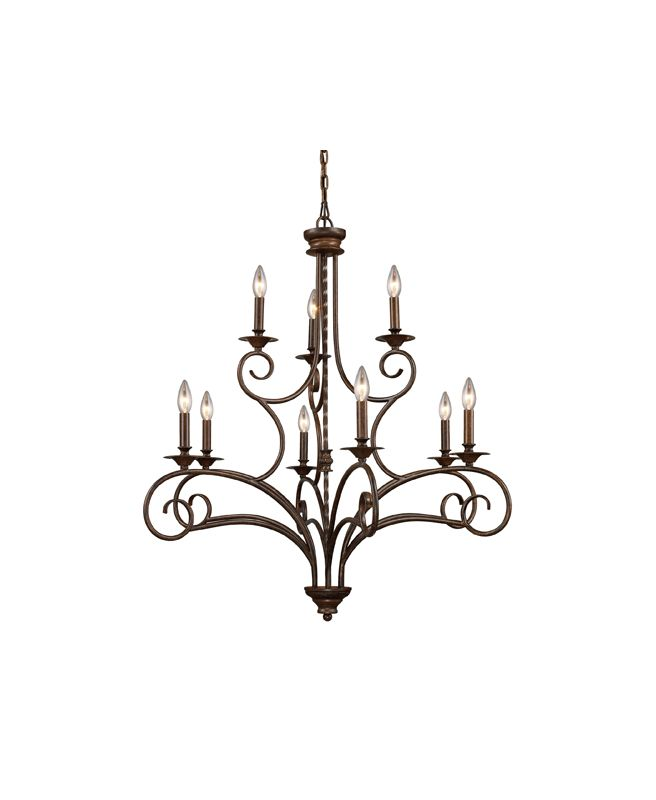 Elk Lighting 15043/6+3 Nine Light Chandelier from the Gloucester