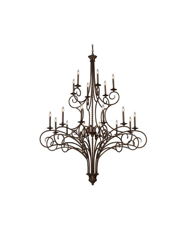 Elk Lighting 15044/12+6 Eighteen Light Chandelier from the Gloucester