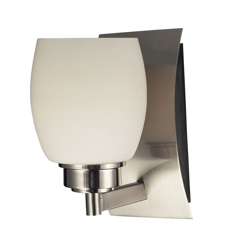 "Elk Lighting 17100/1 Northport 1 Light 8"" Bathroom Sconce with Frosted"