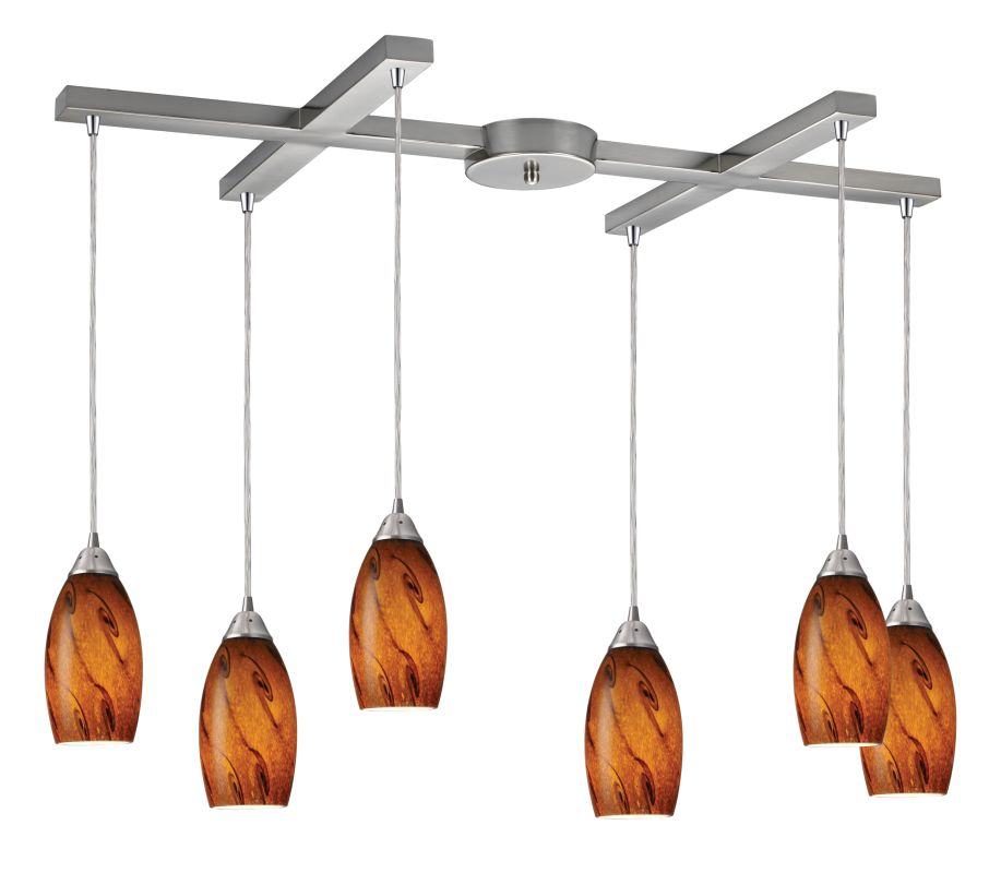 "Elk Lighting 20001/6 Galaxy 6 Light 33"" Wide Multi Light Pendant with Sale $1086.00 ITEM: bci1399818 ID#:20001/6BG UPC: 748119010823 :"