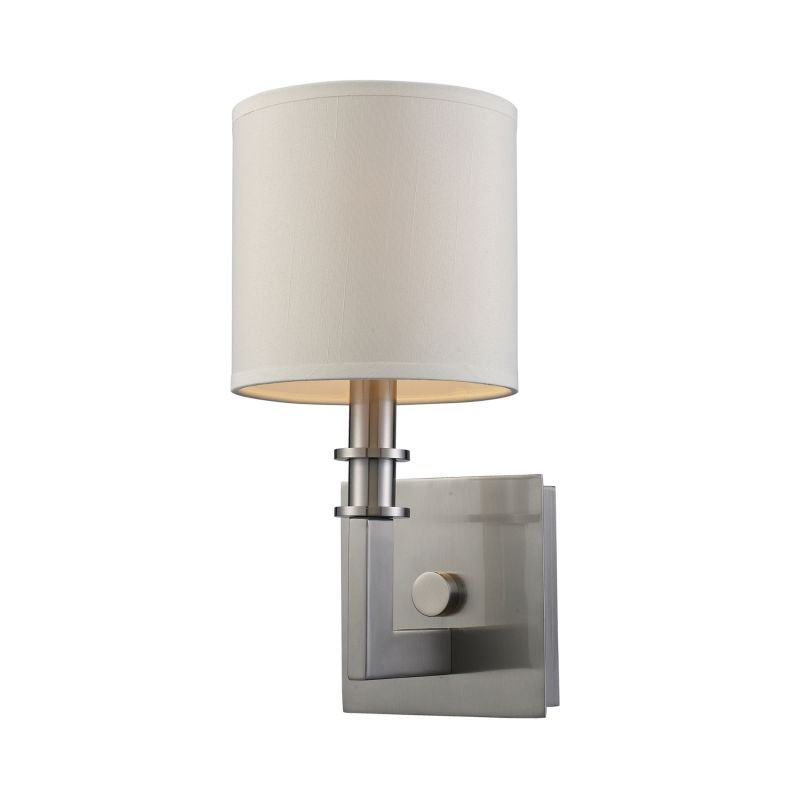 Elk Lighting 20150/1 Nickel Contemporary Seven Springs Wall Sconce