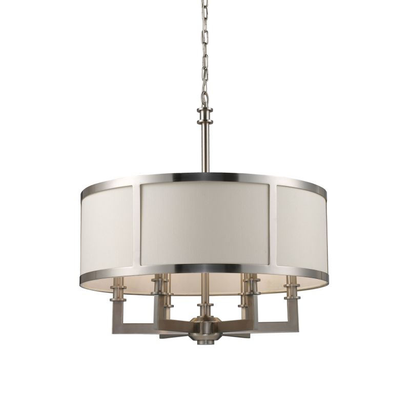 Elk Lighting 20154/6 Nickel Contemporary Seven Springs Chandelier
