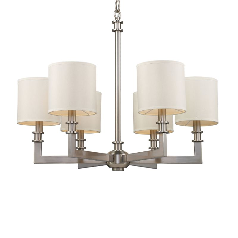 Elk Lighting 20155/6 Nickel Contemporary Seven Springs Chandelier