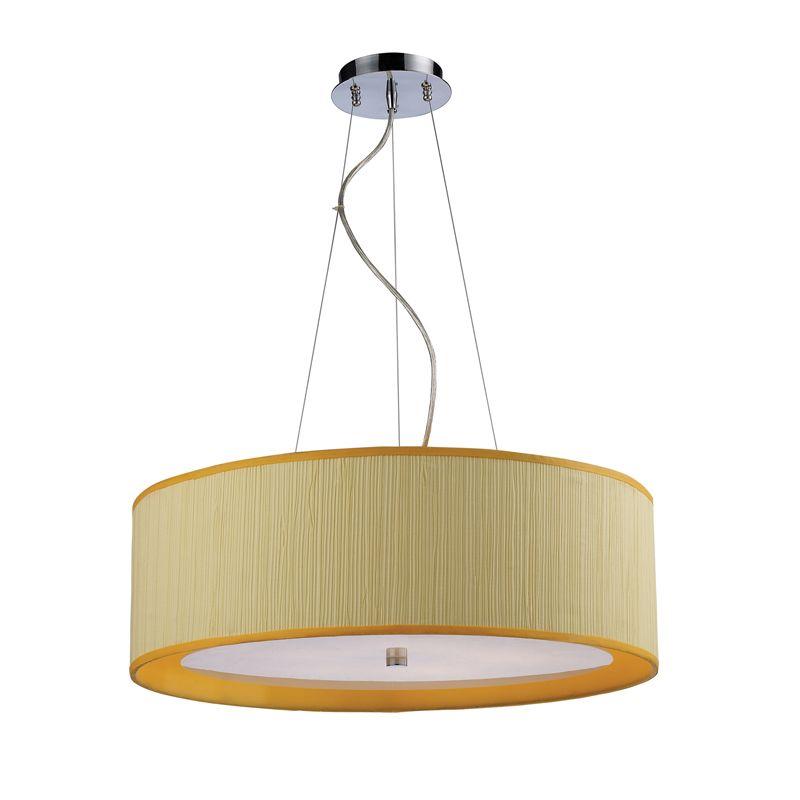 elk lighting 20215 5 polished chrome yellow shade 5