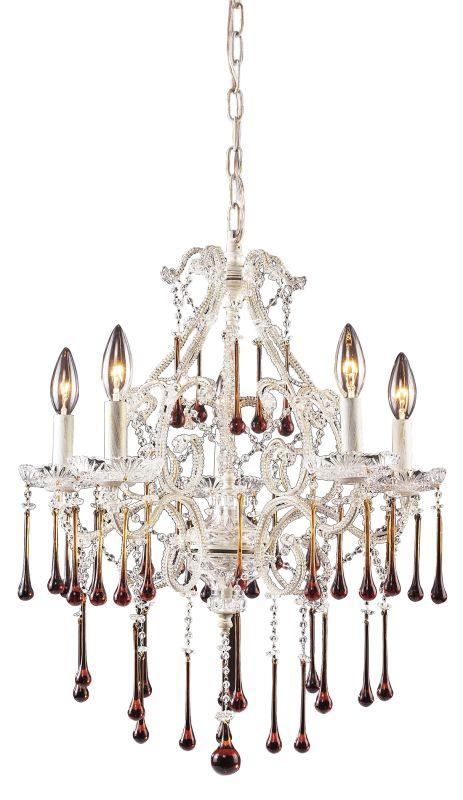 Elk Lighting 4002/5 Opulence 5 Light 1 Tier Mini Crystal Chandelier Sale $550.00 ITEM: bci73409 ID#:4002/5AMB UPC: 748119400228 :