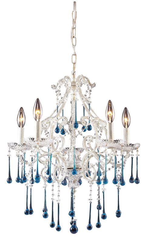 Elk Lighting 4002/5 Opulence 5 Light 1 Tier Mini Crystal Chandelier Sale $550.00 ITEM: bci73410 ID#:4002/5AQ UPC: 748119400211 :