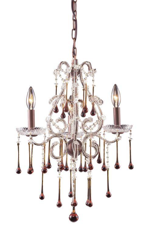 Elk Lighting 4011/3 Opulence 3 Light 1 Tier Mini Crystal Chandelier Sale $328.00 ITEM: bci73517 ID#:4011/3AMB UPC: 748119401126 :