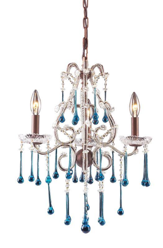 Elk Lighting 4011/3 Opulence 3 Light 1 Tier Mini Crystal Chandelier Sale $328.00 ITEM: bci73518 ID#:4011/3AQ UPC: 748119401119 :