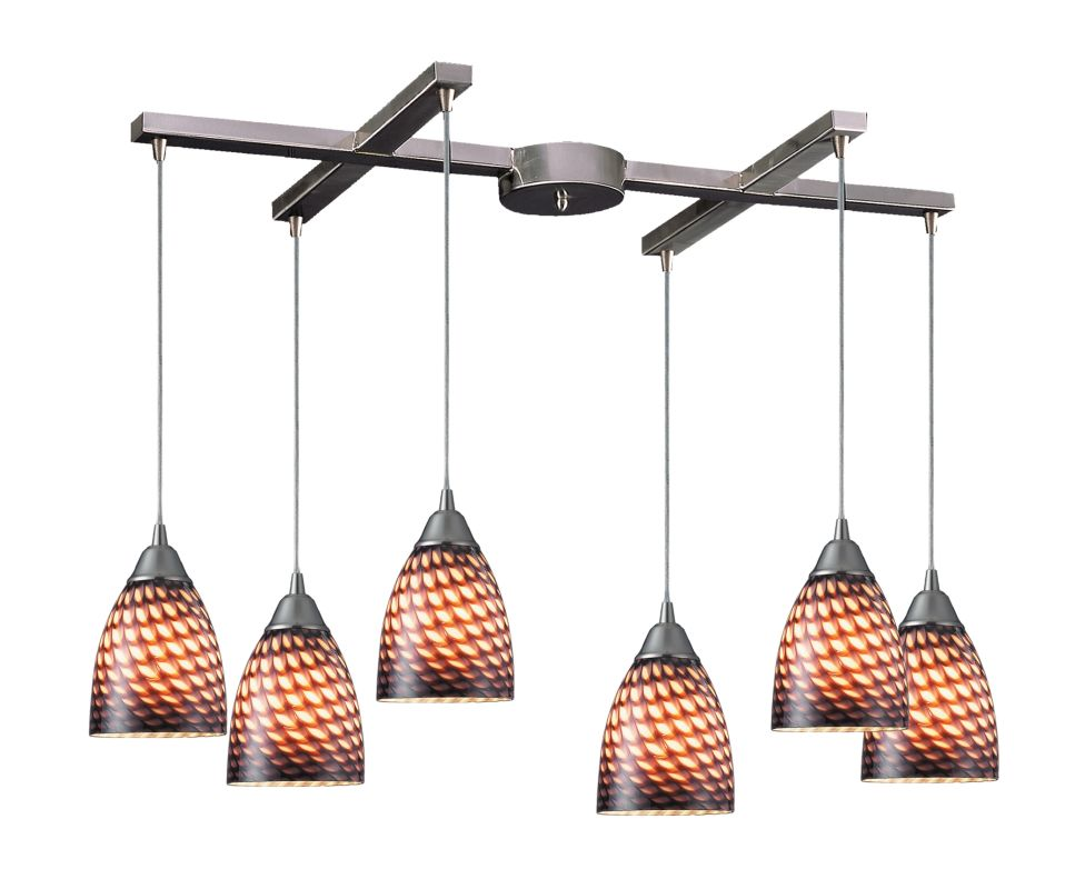 "Elk Lighting 416-6 Arco Baleno 6 Light 33"" Wide Multi Light Pendant"