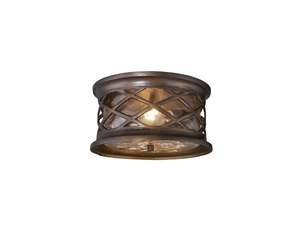 Elk Lighting 42037 2 Hazelnut Bronze Barrington Gate 2 Light Outdoor Flush Mo