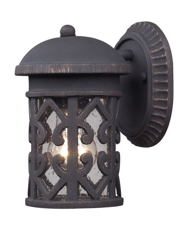 Elk Lighting 42065/1 Tuscany Coast 1 Light Outdoor Wall Sconce