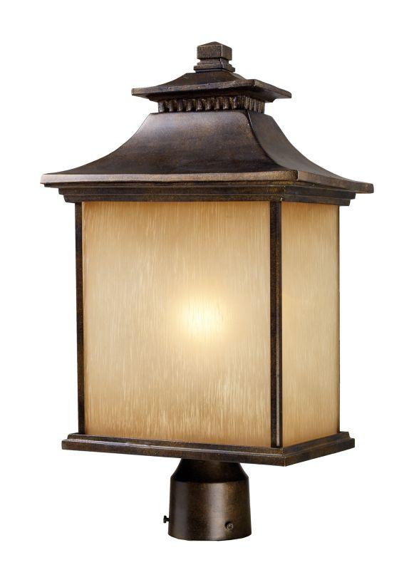 Elk Lighting 42184/1 San Gabriel 1 Light Outdoor Post Light Hazelnut Sale $266.00 ITEM: bci857131 ID#:42184/1 UPC: 748119003252 :