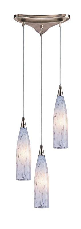 "Elk Lighting 501-3 Lungo 3 Light 3"" Wide Multi Light Pendant with"