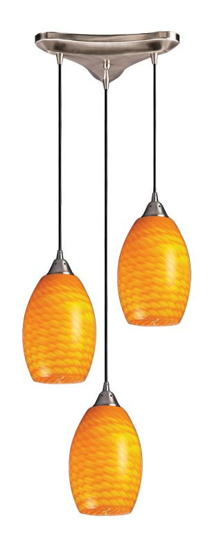 "Elk Lighting 517-3 Mulinello 3 Light 10"" Wide Multi Light Pendant with"