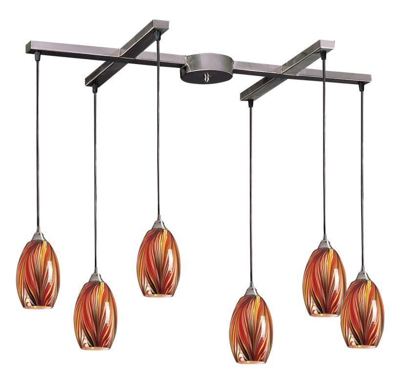 "Elk Lighting 517-6 Mulinello 6 Light 33"" Wide Multi Light Pendant with"
