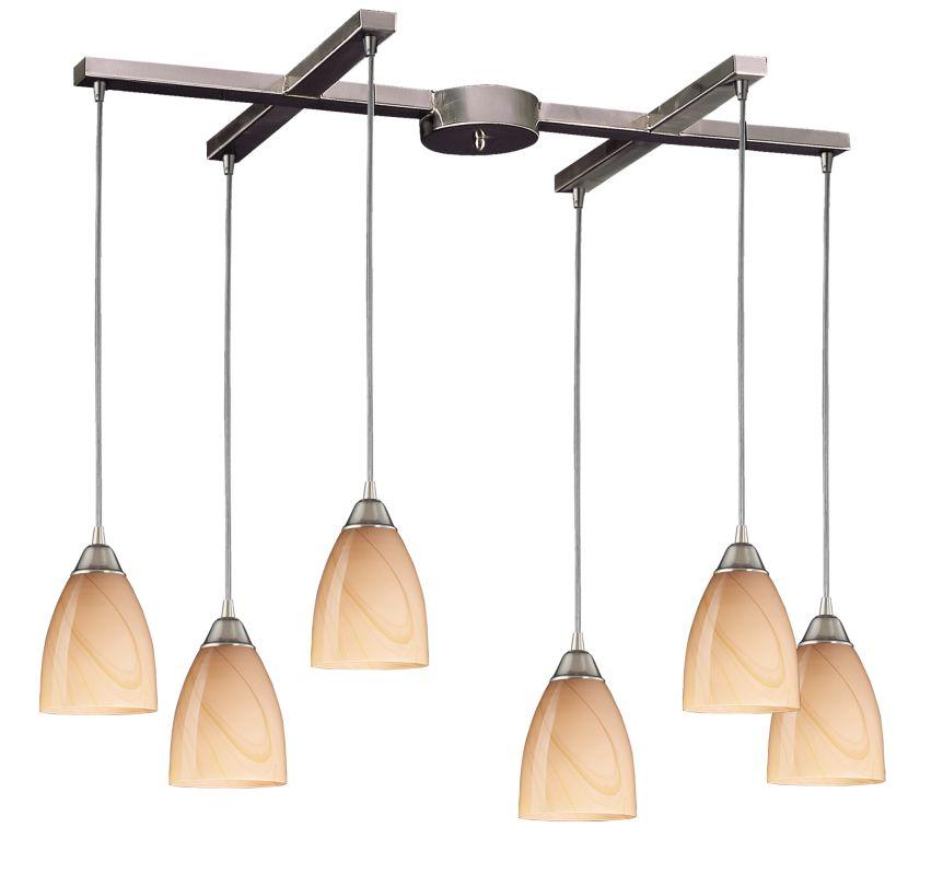"Elk Lighting 527-6 Pierra 6 Light 33"" Wide Multi Light Pendant with"