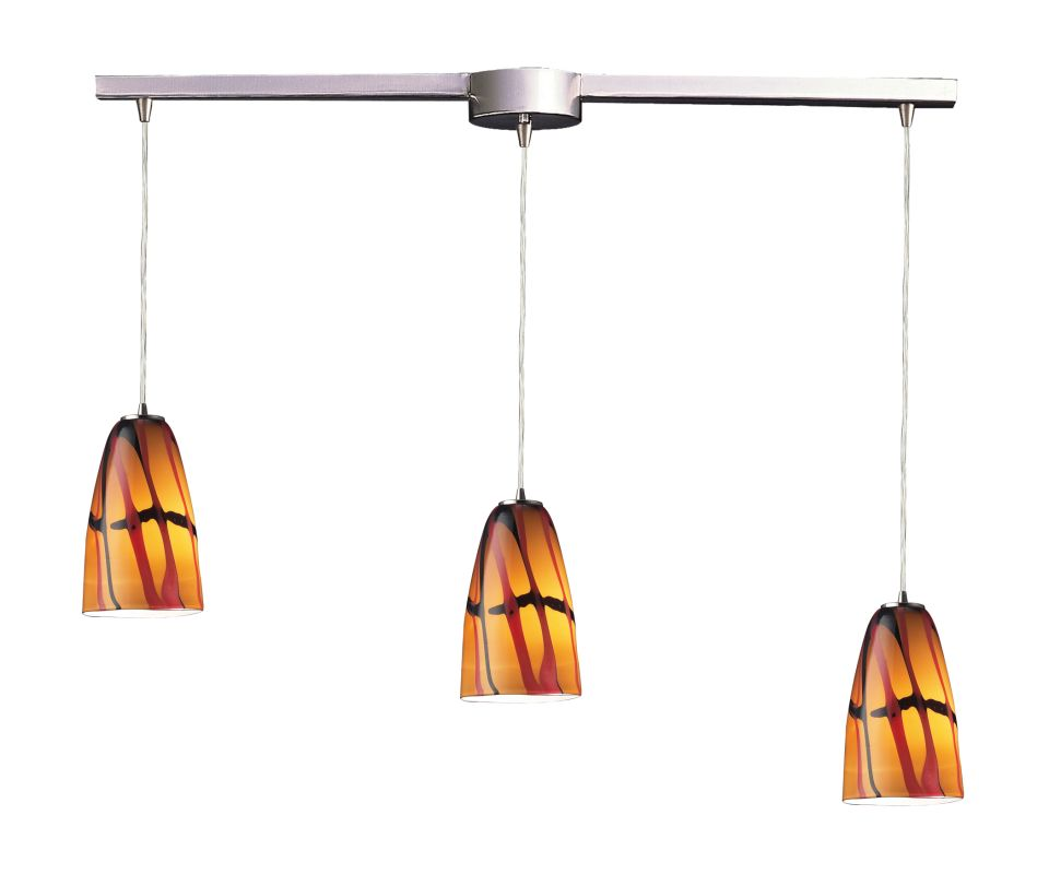 Elk Lighting 541-3L Three Light Linear Pendant Ceiling Fixture from