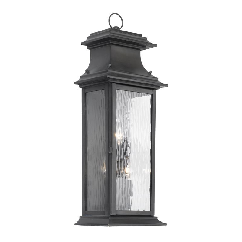 Elk Lighting 5727-C Provincial Charcoal 3 Light 25 Inch Tall Outdoor