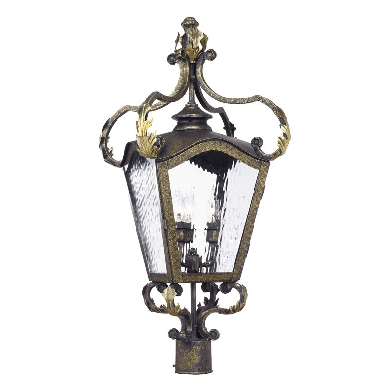 Elk Lighting 5783-CB Acadiana 4 Light Hand Forged Iron Post Light