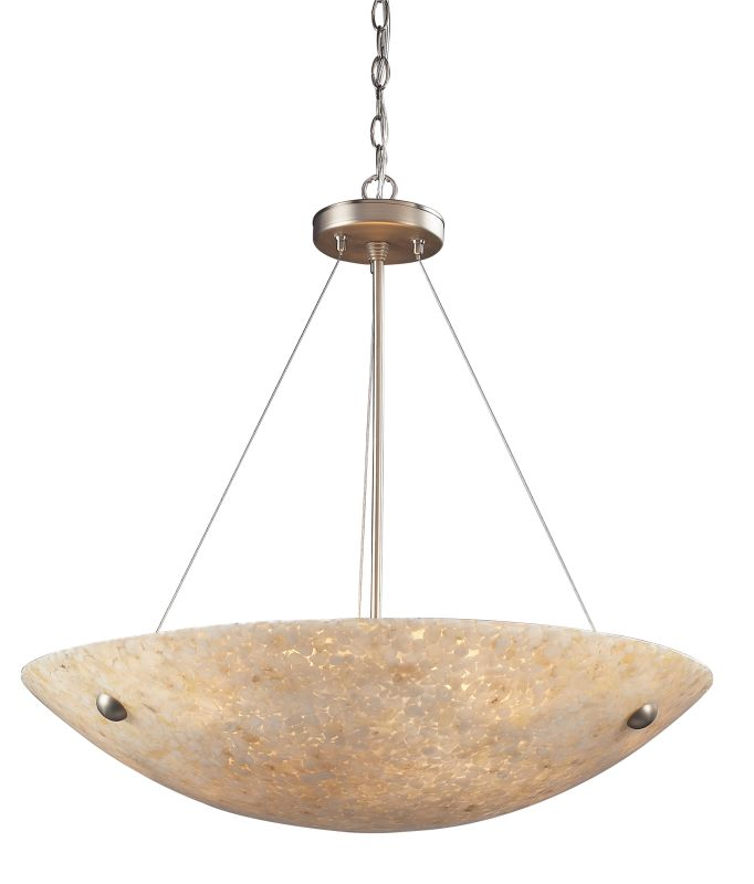 "Elk Lighting 8887/6 Stonybrook 6 Light 24"" Wide Pendant with Round"