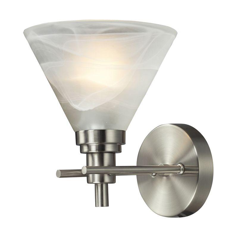 Elk Lighting 11400/1 Pemberton 1 Light Wall Sconce Brushed Nickel