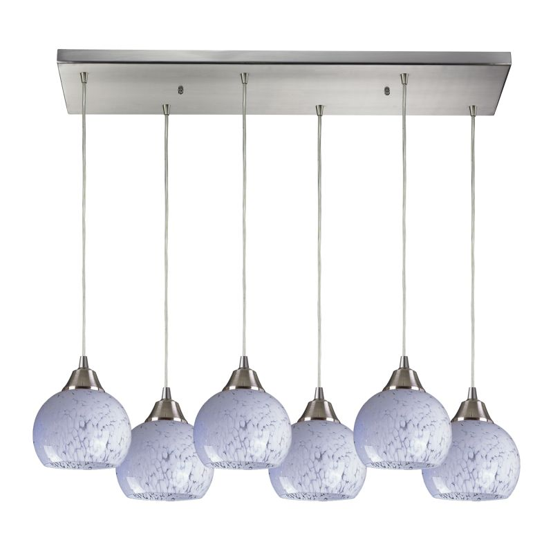 "Elk Lighting 101-6RC Mela 6 Light 30"" Wide Multi Light Pendant with"