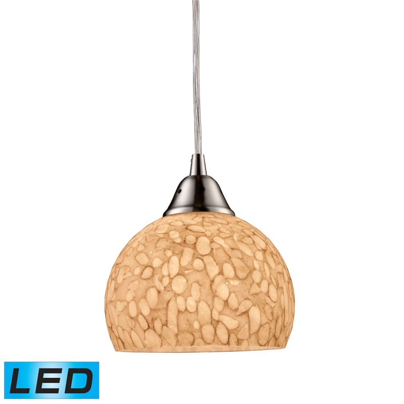 """Elk Lighting 10143/1-LED Cira Single Light 6"""" Wide LED Mini Pendant"""