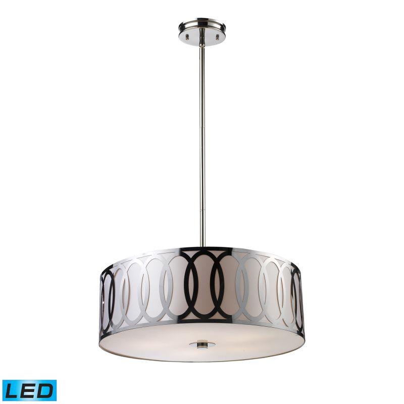 Elk Lighting 10174/5-LED Anastasia 5 Light LED Pendant Polished Nickel