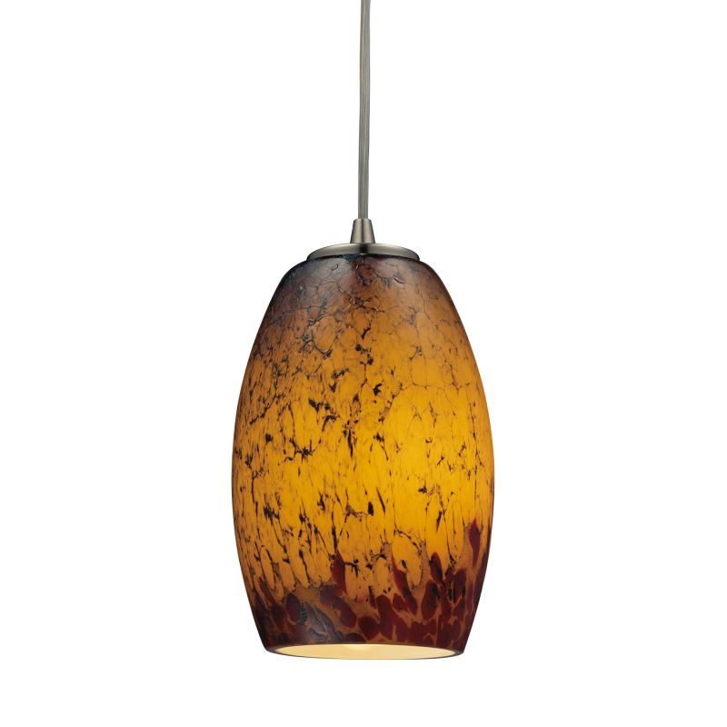 "Elk Lighting 10220/1 Maui Single Light 5"" Wide Mini Pendant with Round"