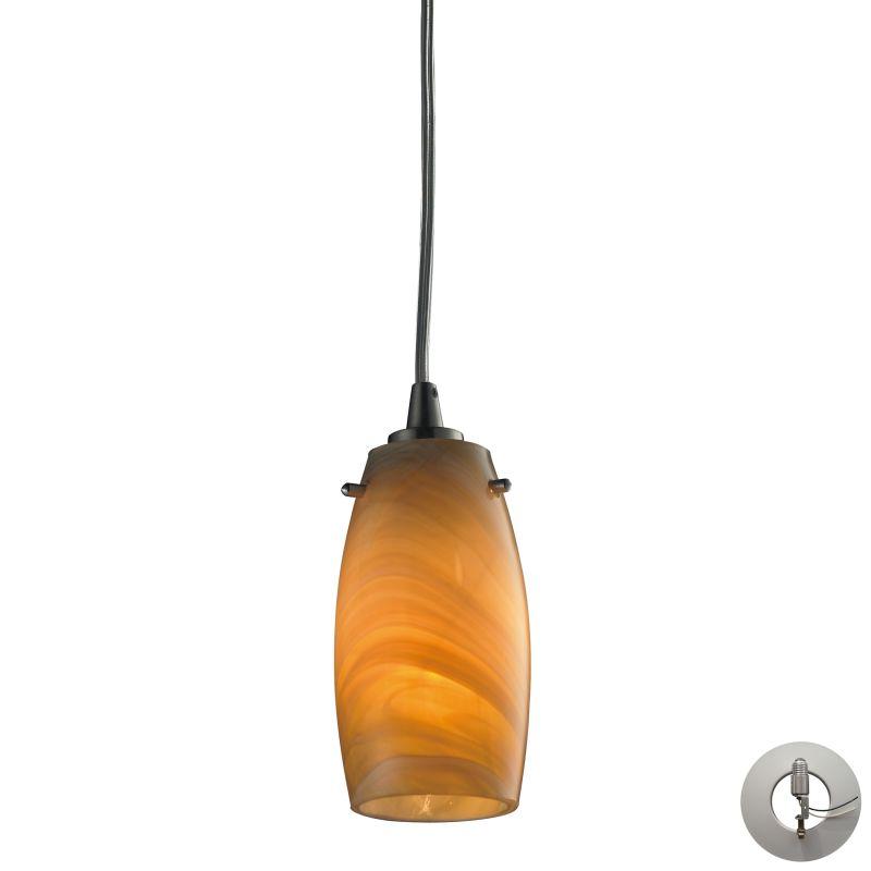 "Elk Lighting 10223/1-LA Favelita Single Light 3"" Wide Instant Pendant"