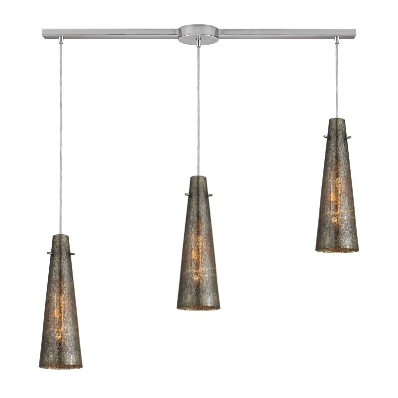 "Elk Lighting 10247/3L Rury 3 Light 36"" Wide Linear Pendant with"