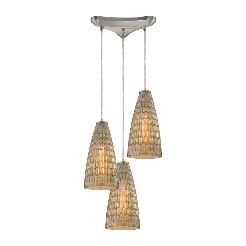 "Elk Lighting 10249/3 Mickley 3 Light 10"" Wide Multi Light Pendant with"