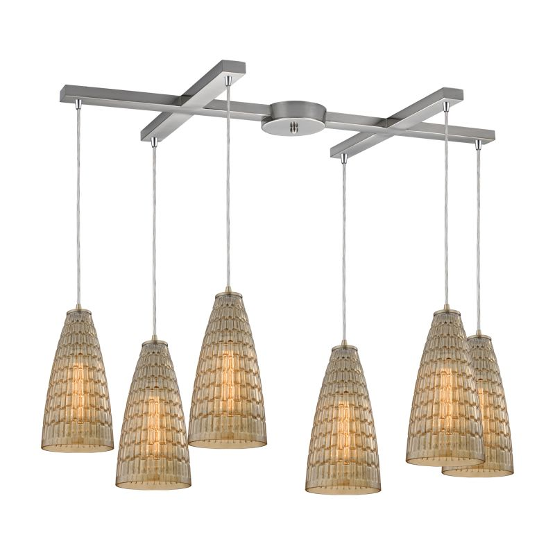 "Elk Lighting 10249/6 Mickley 6 Light 33"" Wide Multi Light Pendant with"