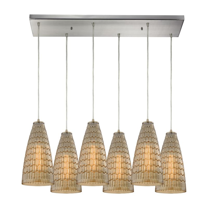 "Elk Lighting 10249/6RC Mickley 6 Light 30"" Wide Multi Light Pendant"