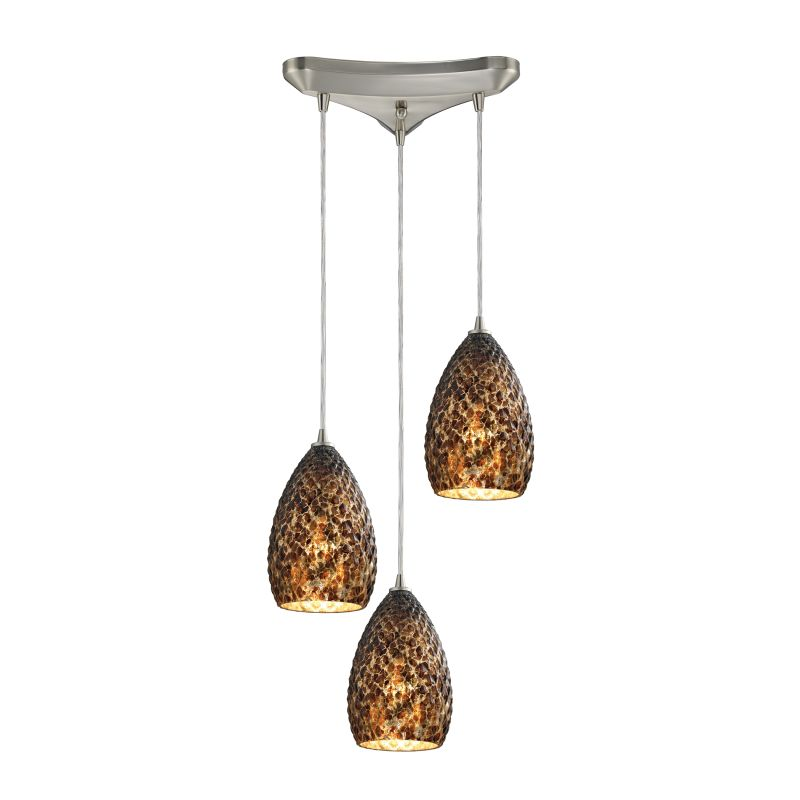 "Elk Lighting 10253/3 Geval 3 Light 10"" Wide Multi Light Pendant with"