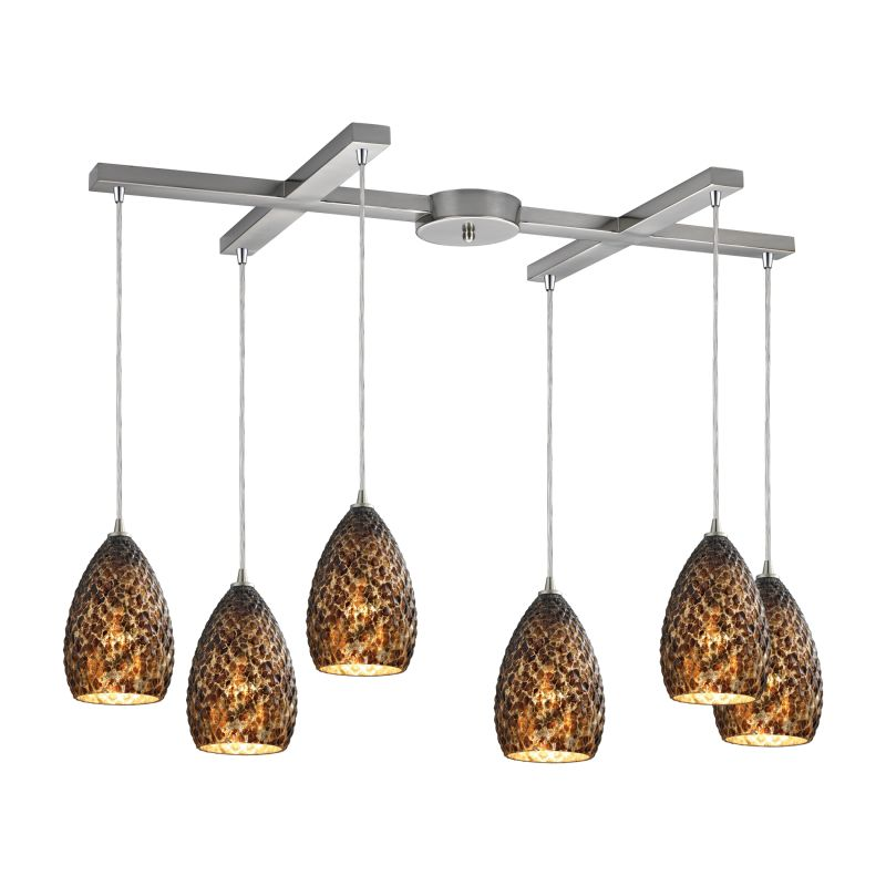 "Elk Lighting 10253/6 Geval 6 Light 33"" Wide Multi Light Pendant with"