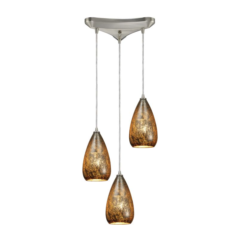 "Elk Lighting 10254/3 Karma 3 Light 10"" Wide Multi Light Pendant with"