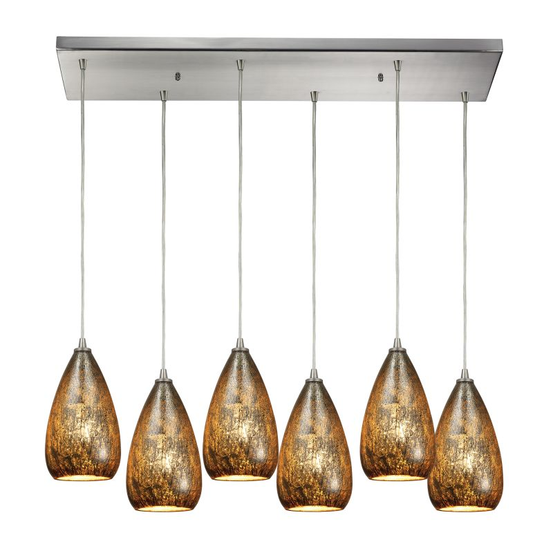 "Elk Lighting 10254/6RC Karma 6 Light 30"" Wide Multi Light Pendant with"