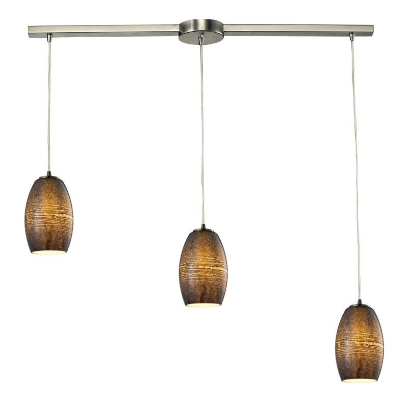 Elk Lighting 10330/3L-TM Andover 3 Light Linear Pendant Satin Nickel
