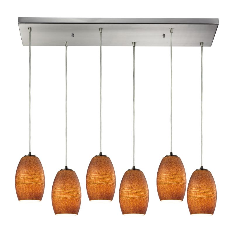 Elk Lighting 10330/6RC-TBR Andover 6 Light Linear Pendant Satin Nickel Sale $948.00 ITEM: bci2346666 ID#:10330/6RC-TBR UPC: 748119064079 :