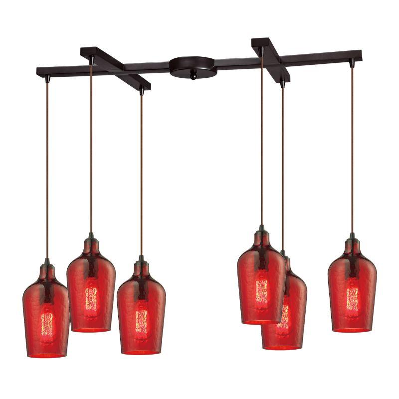 """Elk Lighting 10331/6HRD Hammered Glass 6 Light 33"""" Wide Multi Light Sale $1086.00 ITEM: bci2346686 ID#:10331/6HRD UPC: 748119064352 :"""