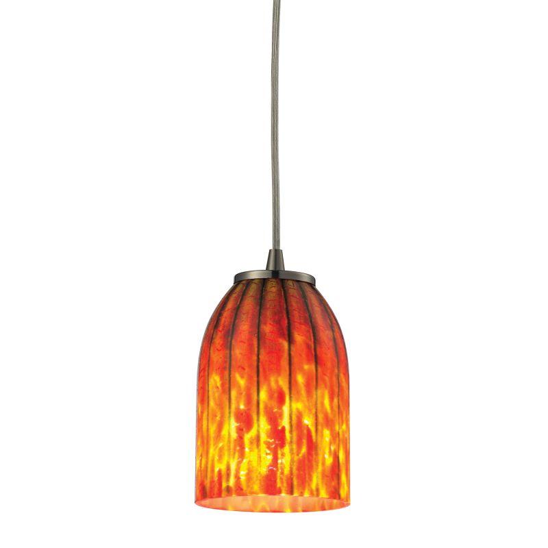 Elk Lighting 10335/1 Caliente 1 Light Mini Pendant Satin Nickel Indoor