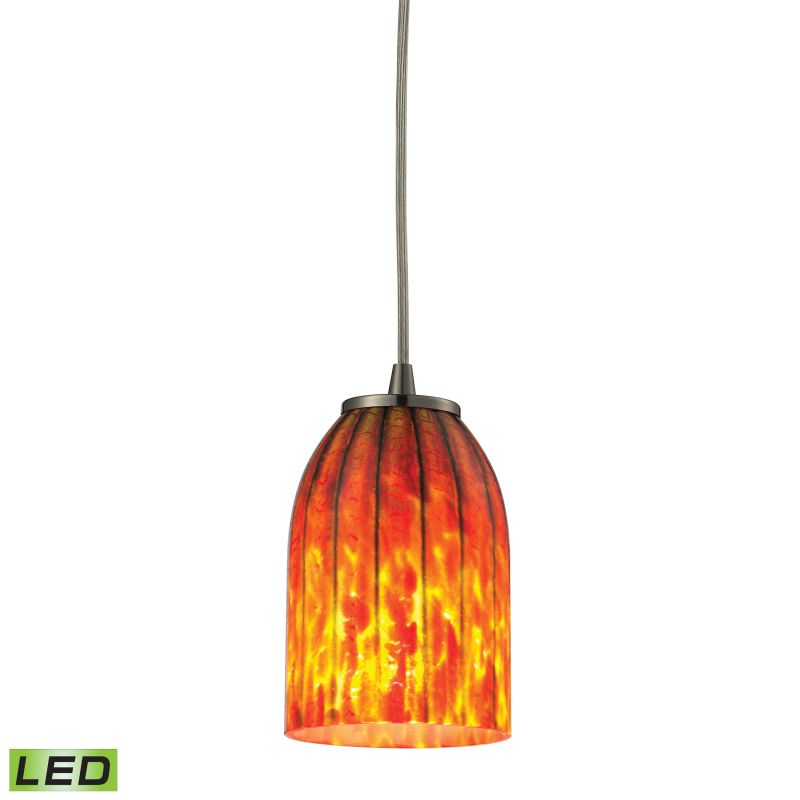 Elk Lighting 10335/1-LED Caliente 1 Light LED Mini Pendant Satin