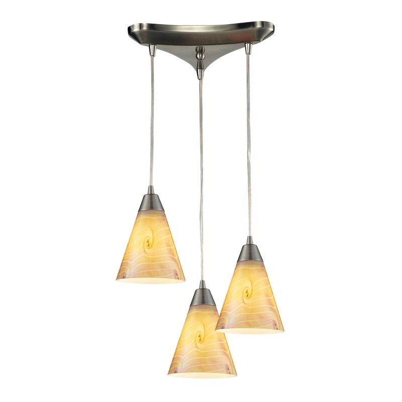 Elk Lighting 10337/3 Magellan 3 Light Multi Light Pendant Satin Nickel