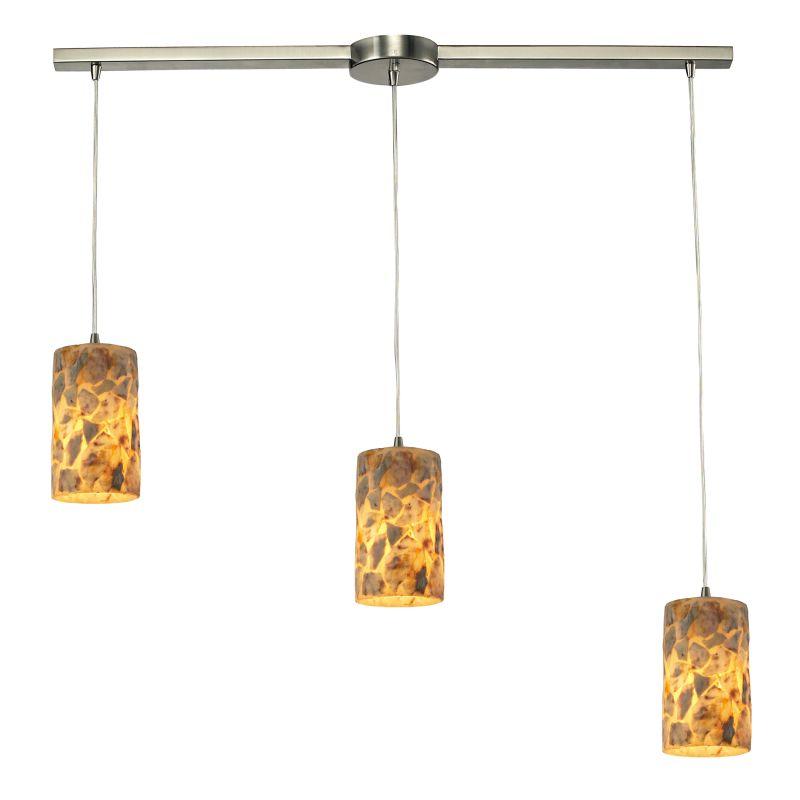 Elk Lighting 10339/3L Rocklidge 3 Light Linear Pendant Satin Nickel