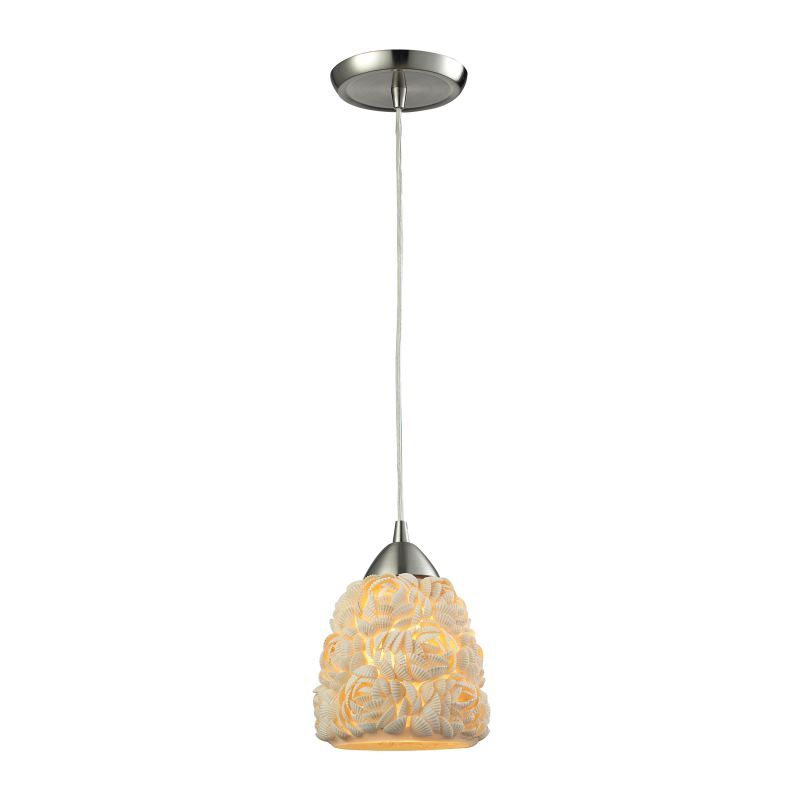 "Elk Lighting 10414/1 Shells Single Light 6"" Wide Linear Pendant with"