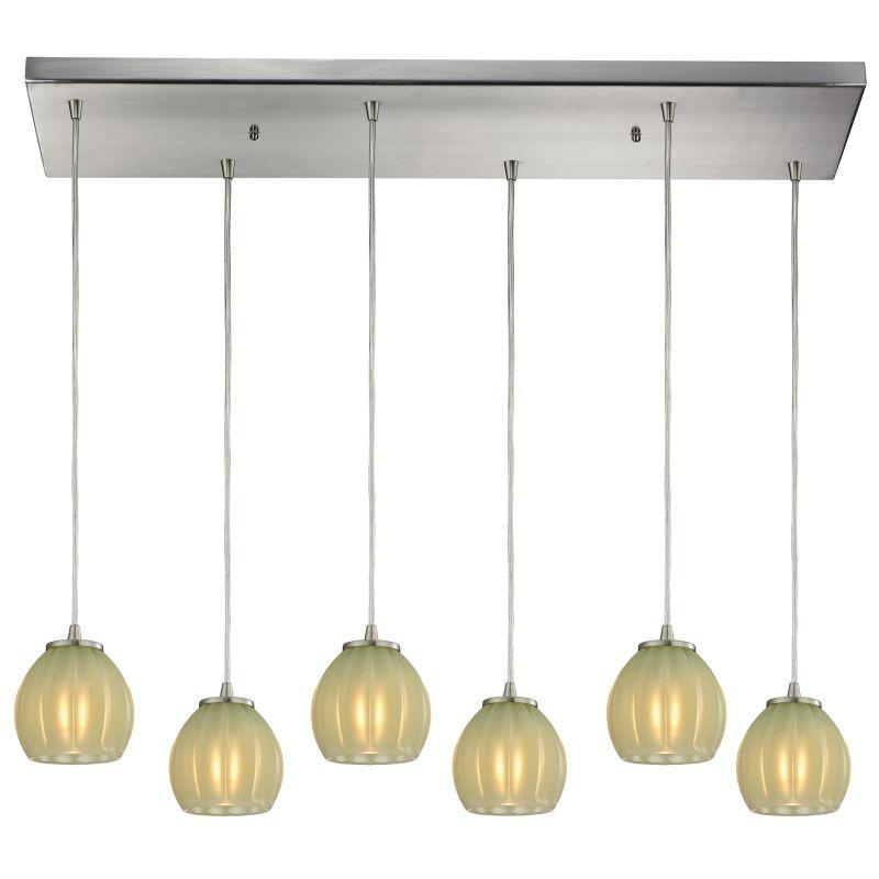 "Elk Lighting 10421/6RC Melony 6 Light 30"" Wide Multi Light Pendant"