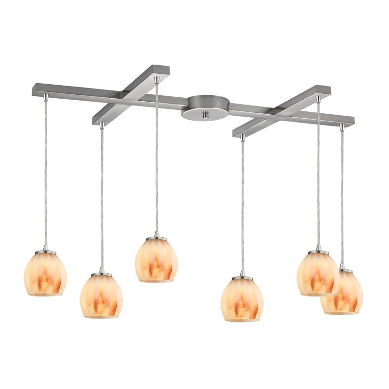 "Elk Lighting 10421/6 Melony 6 Light 33"" Wide Multi Light Pendant with"