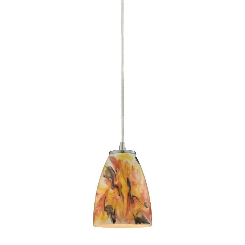 "Elk Lighting 10460/1 Abstractions Single Light 5"" Wide Mini Pendant"