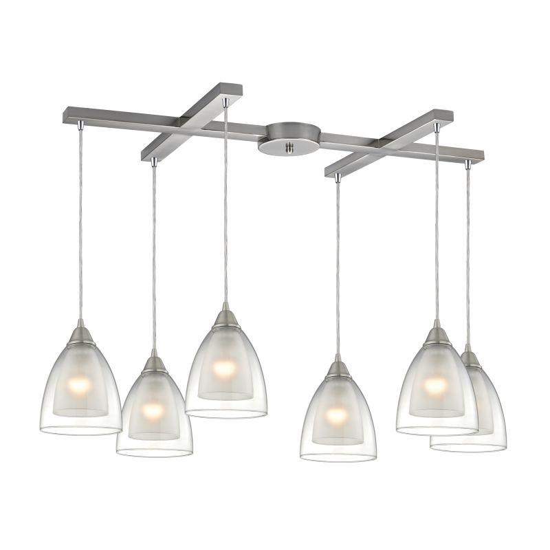 "Elk Lighting 10464/6 Layers 6 Light 33"" Wide Multi Light Pendant with Sale $1080.00 ITEM: bci2614899 ID#:10464/6 UPC: 748119084152 :"